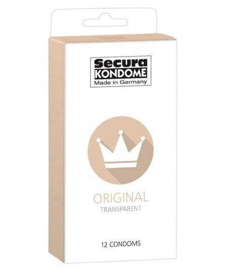 Secura Kondome Original Transparent x12 Condoms Natural and Regular