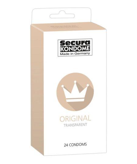 Secura Kondome Original Transparent x24 Condoms Natural and Regular