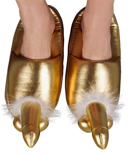 Golden Penis Slippers Novelties