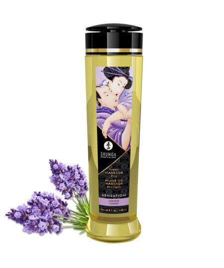 Shunga Massage Oil Sensation Lavender 240ml Bath and Massage
