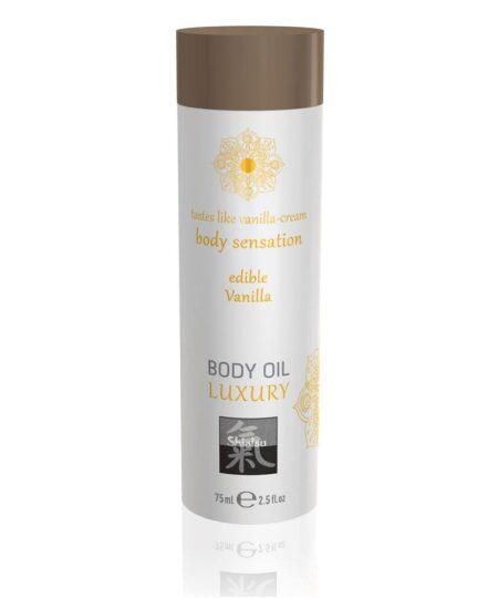 Shiatsu Luxury Body Oil Edible Vanilla 75ml Flavoured Lubricants and Oils
