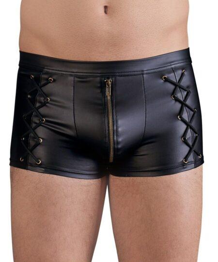NEK Matt Black Tight Fitting Pants Male