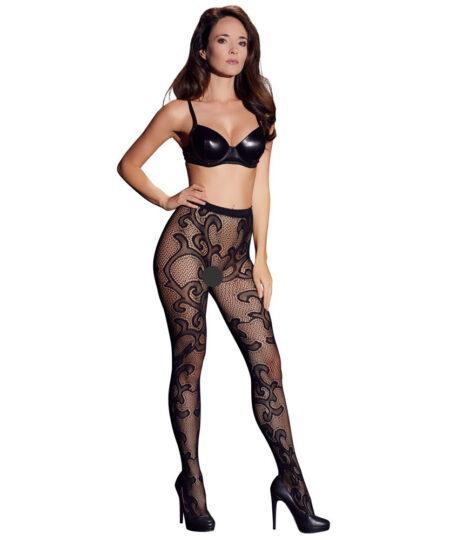 Cottelli Legwear Lacey Tights Black UK Size 812 Stockings