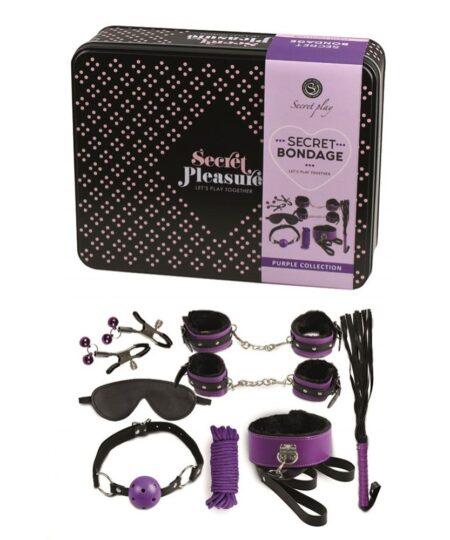 Secret Bondage Kit Black And Purple Collection Bondage Kits