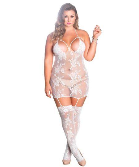 Leg Avenue Strappy Suspender Dress UK 18 to 22 Plus Size Lingerie
