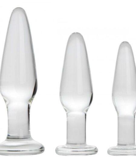 Dosha 3 Piece Glass Anal Plug Kit Butt Plug Kits