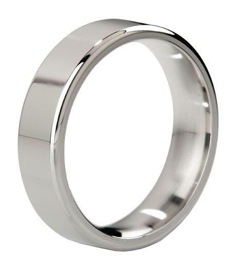 MyStim Duke Stainless Steel Polished Cock Ring Electro Sex Stimulation