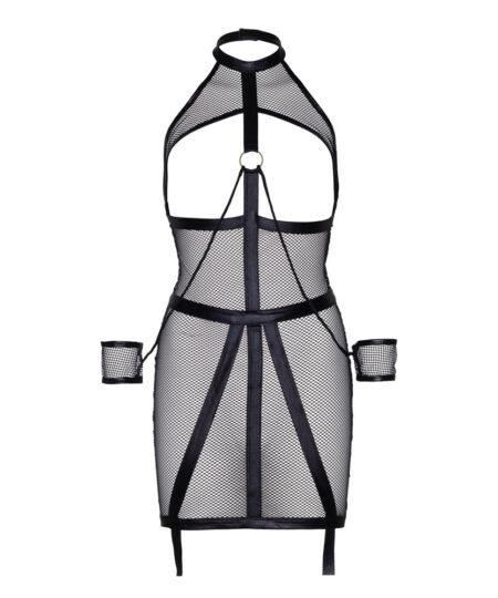 Leg Avenue KINK Wet Look Fishnet Open Bondage Dress Dresses and Chemises