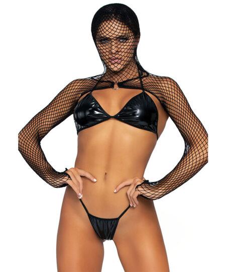 KINK Bikini Top GString and Shrug UK 8 to 14 Bra Sets