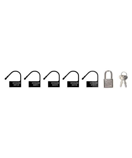 Man Cage Black Spare Locks x5 Male Chastity