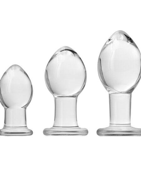 Crystal Premium Glass Trainer Kit Butt Plug Kits