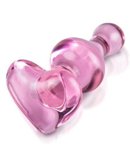 Icicles No.75 Pink Heart Glass Butt Plug Jewel Butt Plugs
