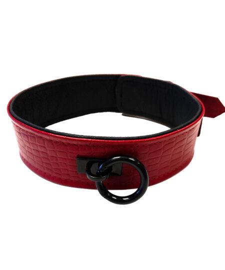 Rouge Garments Leather Croc Print Collar Collars