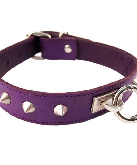 Rouge Garments Purple Studded ORing Studded Collar Collars