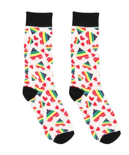Happy Hearts Sexy Socks Size 3641 Novelties