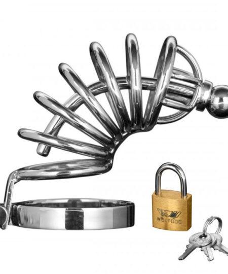 Asylum 6 Ring Locking Chastity Cage Male Chastity