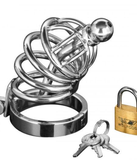 Asylum 4 Ring Locking Chastity Cage Male Chastity