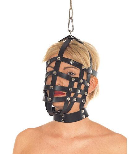 Leather Muzzle Mask Bondage Hoods